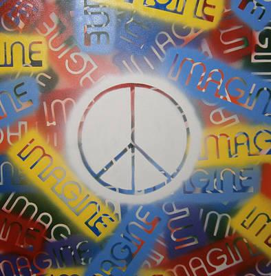 Imagine Peace Art Print by Drew Shourd