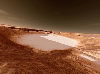 Impact Photograph - Impact Crater On Mars by Detlev Van Ravenswaay