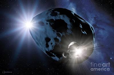 Meteorite Art Photograph - Impact On An Asteroid, Artwork by Detlev van Ravenswaay
