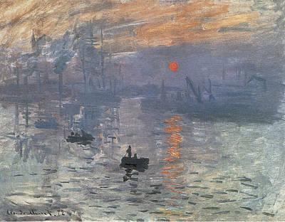 Sunrise Over Water Painting - Impression Sunrise by Claude Monet