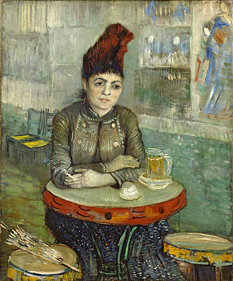 Painting - In The Cafe - Agostina Segatori In Le Tambourin by Vincent Van Gogh