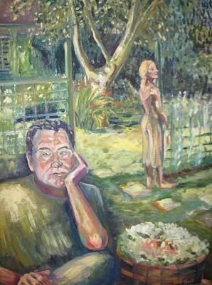 Painting - In The Garden by Ellen Howell