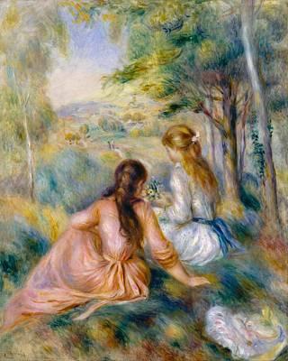 In The Meadow Art Print by Pierre-Auguste Renoir
