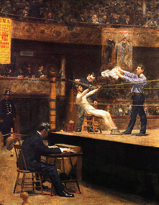 In The Mid Time Art Print by Thomas Eakins