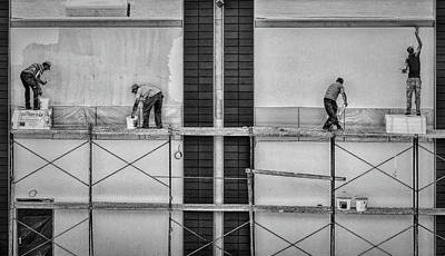 Working Wall Art - Photograph - In The Rectangles by Gabriela Pantu