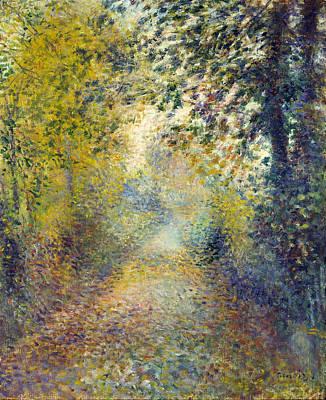 In The Woods Renoir Painting - In The Woods by Pierre-Auguste Renoir