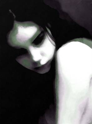 Thoughts Digital Art - In Thoughts by Gun Legler
