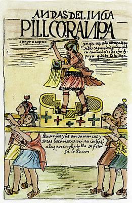 Inca Drawing - Inca Warrior by Granger