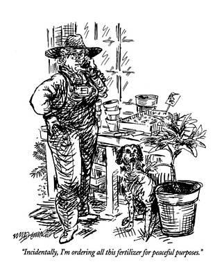 Terrorism Drawing - Incidentally by William Hamilton