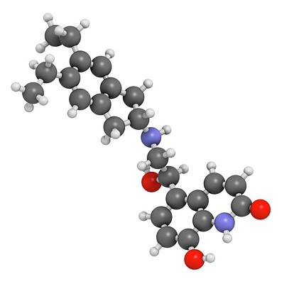 Aerosol Photograph - Indacaterol Copd Drug Molecule by Molekuul