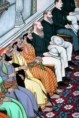 India British Reception Art Print by Granger