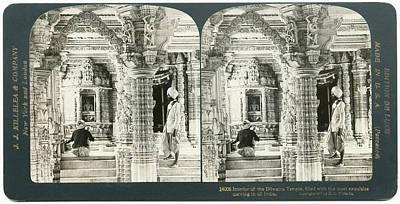 Jainism Wall Art - Painting - India Dilwara Temple, C1907 by Granger