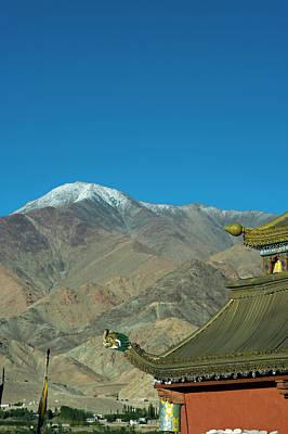 India, Ladakh, Leh, Shanti Stupa Art Print by Anthony Asael