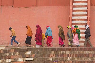 Varanasi Photograph - India, Uttar Pradesh, Varanasi by Emily Wilson