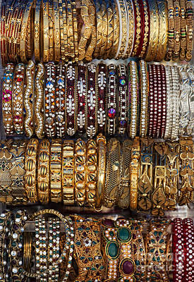 Bracelet Photograph - Indian Bangles by Tim Gainey
