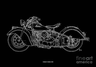 Indian Chief Drawing - Indian Chief 1948 by Pablo Franchi