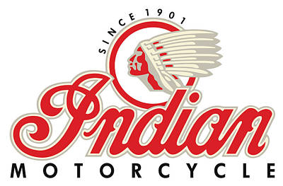 Digital Art - Indian Motorcycle Logo by Carlos Diaz