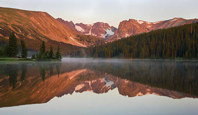 Indian Peaks At Sunrise Art Print