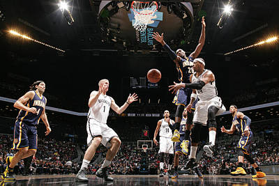 Photograph - Indiana Pacers V Brooklyn Nets by Nathaniel S. Butler