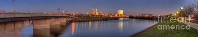 Indiana Photograph - Indianapolis From White River by Twenty Two North Photography