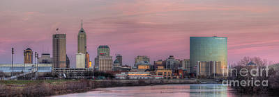 Indiana Winters Photograph - Indianapolis Skyline by Twenty Two North Photography