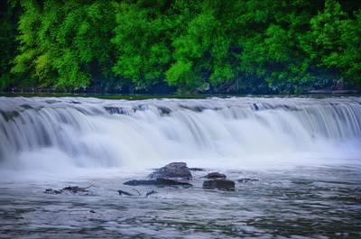 Oak Creek Digital Art - Indianhead Dam by Bill Cannon