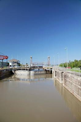 Industrial Canal Lock Art Print