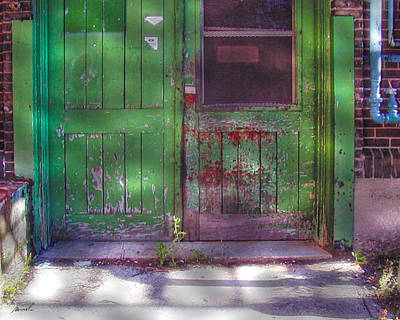 Photograph - Industrial Green Door by The Art of Marsha Charlebois