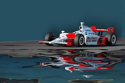 Indy Reflection Art Print by Kevin Cable