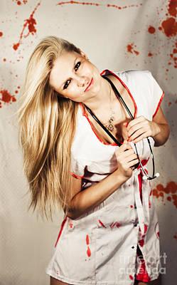 Inhospitable Horror Hospital Art Print by Jorgo Photography - Wall Art Gallery
