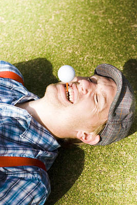 Comics Royalty-Free and Rights-Managed Images - Insane Sport Nut Crazy About Golf by Jorgo Photography - Wall Art Gallery