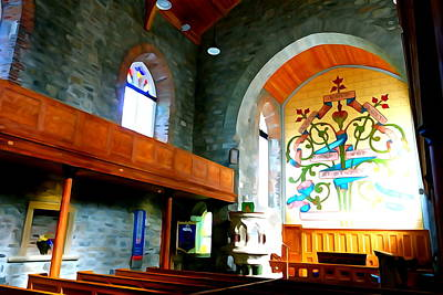 Photograph - Inside Drumcliff Church by Charlie and Norma Brock