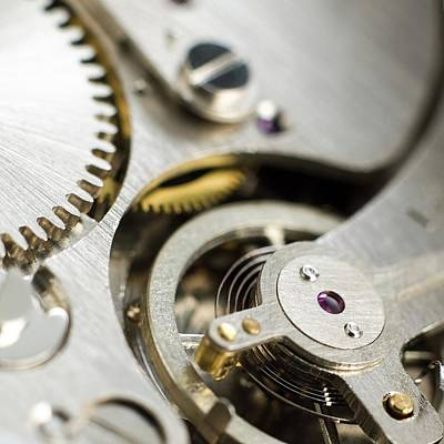 Mechanism Photograph - Inside Of Pocket Watch by Science Photo Library