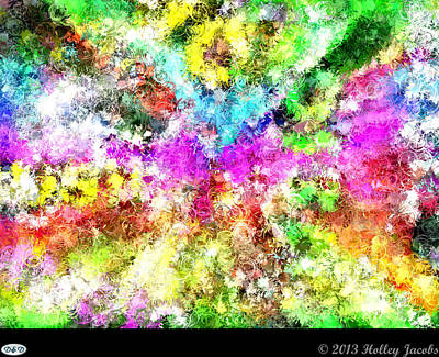 Digital Art - Inspired By Music Brighter by Holley Jacobs