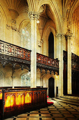 Photograph - Interior Of Gothic Revival Chapel. Streets Of Dublin.gothic Collection by Jenny Rainbow