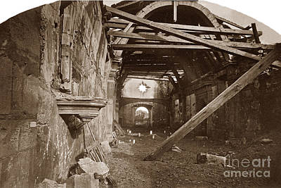 Photograph - Interior Of Old Mission Church At Carmel Mission California  Circa 1880 by California Views Archives Mr Pat Hathaway Archives