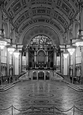 Interior Of St Georges Hall Liverpool Uk Grade 1 Listed Build Art Print by Ken Biggs