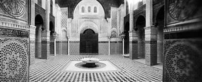 Moroccan Culture Photograph - Interiors Of A Medersa, Medersa Bou by Panoramic Images