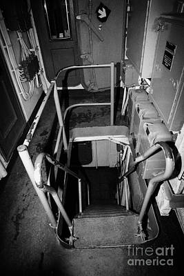 Internal Stairways Of Uss Intrepid At The Intrepid Sea Air Space Museum  Art Print by Joe Fox