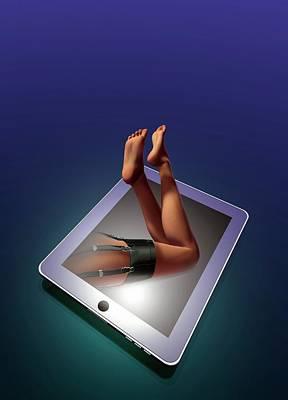 Internet Sex Art Print by Victor Habbick Visions