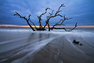 St. Simons Island Photograph - Into The Blue by Debra and Dave Vanderlaan