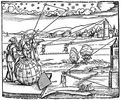 Introductio Geographica, Frontispiece Print by Science Source