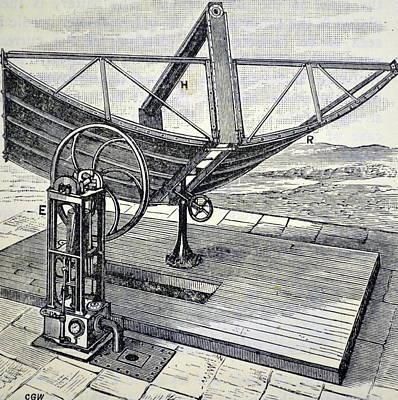 1880s Photograph - Inventor John Ericsson's Machine by Universal History Archive/uig