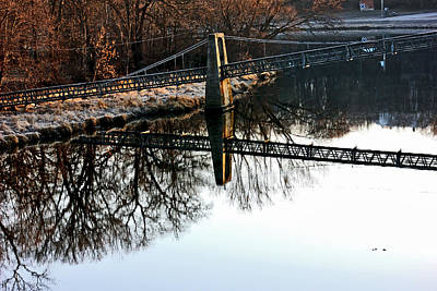 Photograph - Iowa Falls Swinging Bridge  by Jon Baldwin  Art