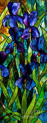 Youghiogheney Glass Glass Art - Iris by David Kennedy