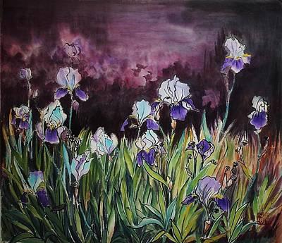 Iris In My Backyard Art Print
