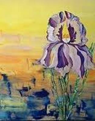 Mixed Media - Iris by Karen Carnow