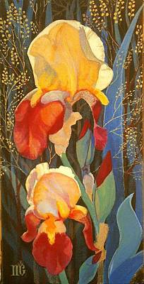 Irises Art Print by Marina Gnetetsky