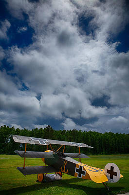 Triplane Photograph - Iron Cross by Phil Taggart