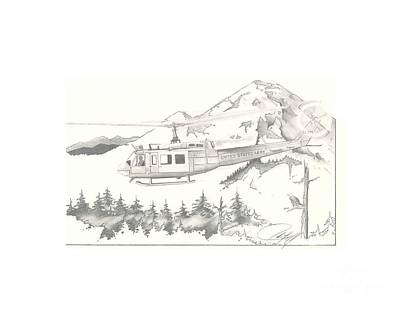 Huey Lewis Drawing - Iroquois by J R L